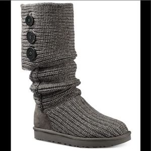 UGG Classic Cardy Boots Grey Size 7